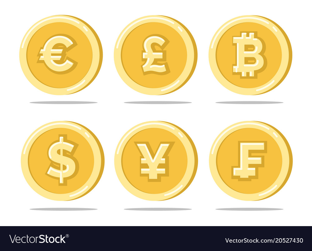 Currency gold coins vector image