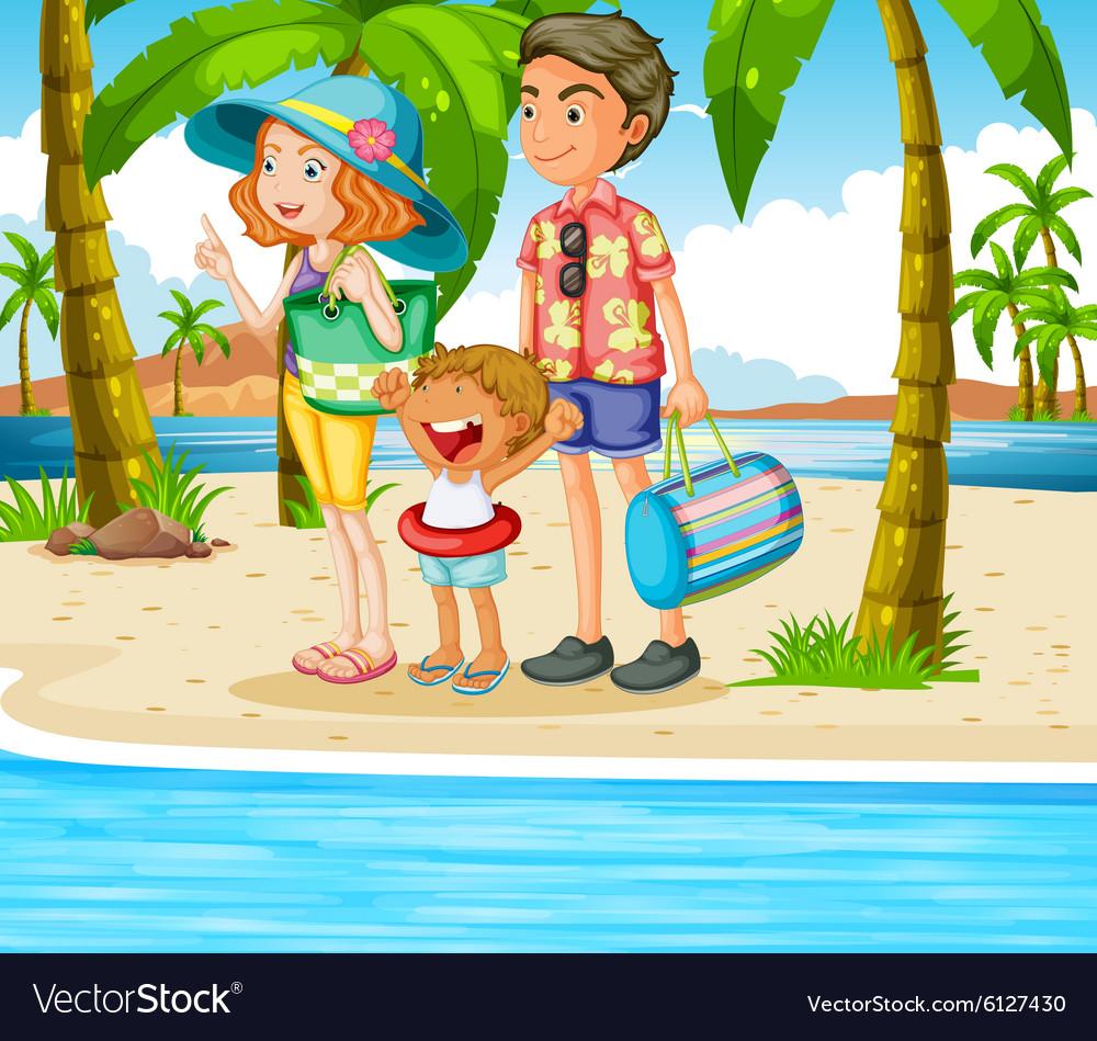 Family trip to the beach