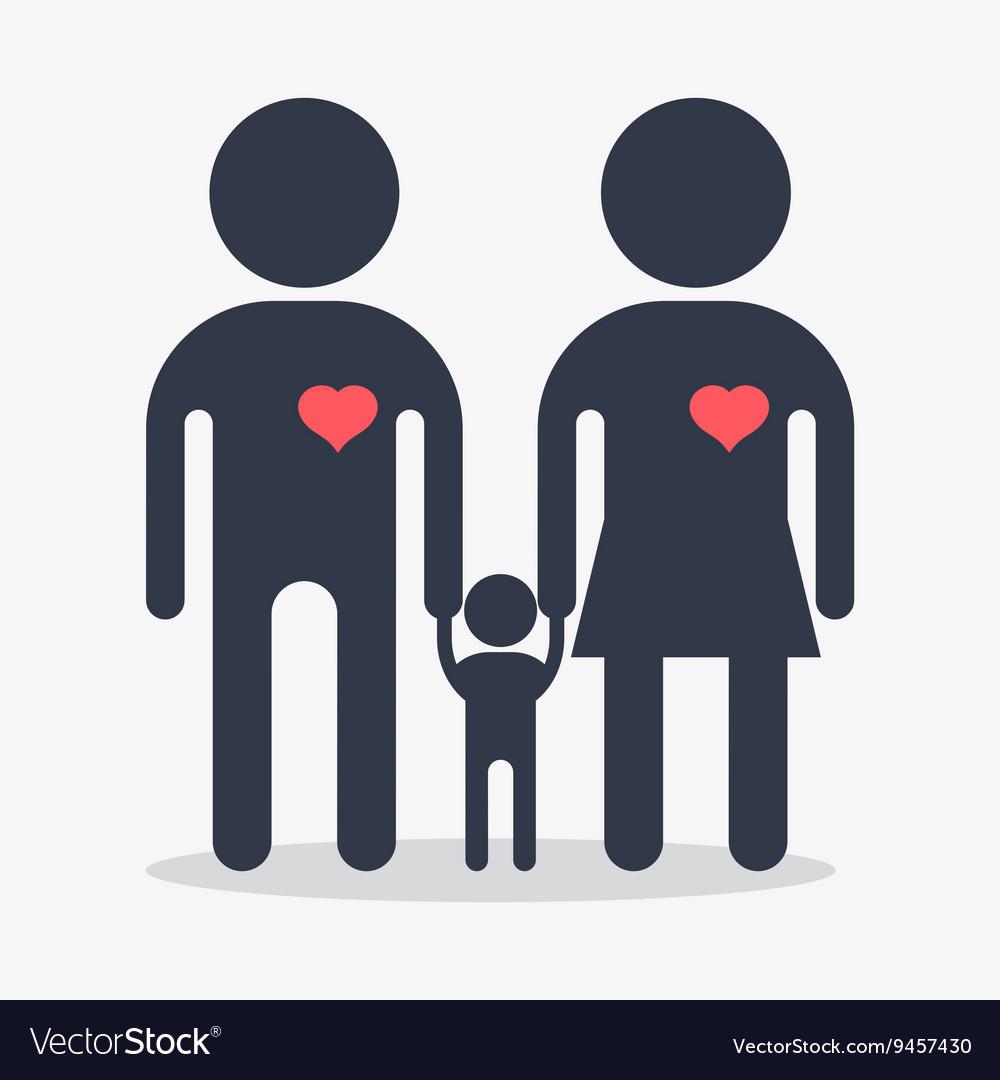 Happy family icon vector image