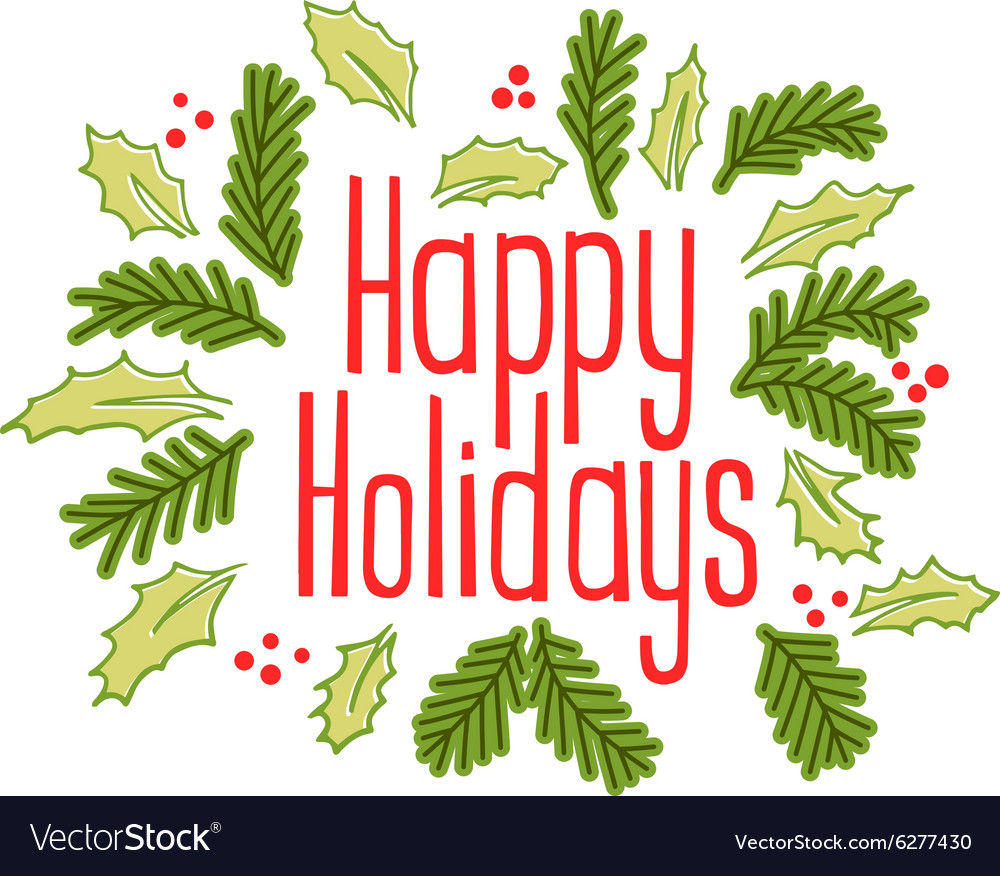 Happy holidays vintage greeting card royalty free vector happy holidays vintage greeting card vector image m4hsunfo