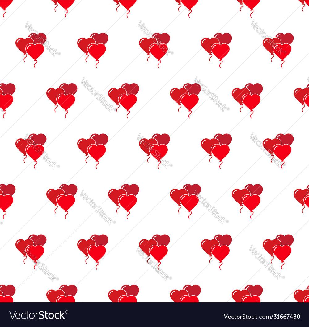 Heart air balloon seamless pattern love happy