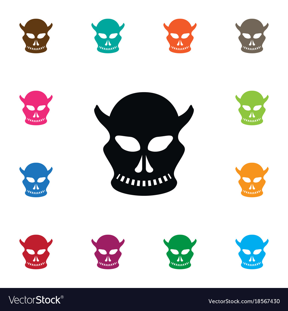 Isolated skull icon cranium element can be