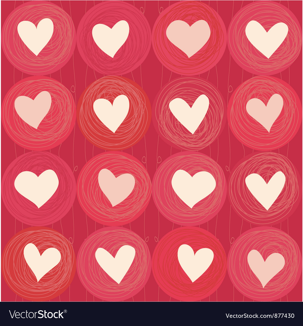 Love Heart Pattern vector image