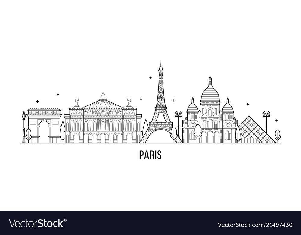 Paris skyline france city buildings