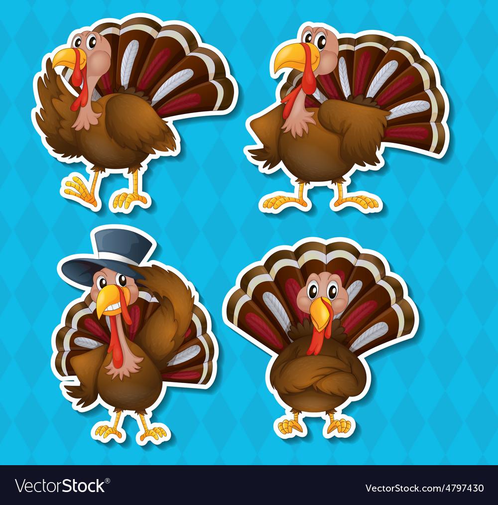 Turkeys & Many Vector Images (40)