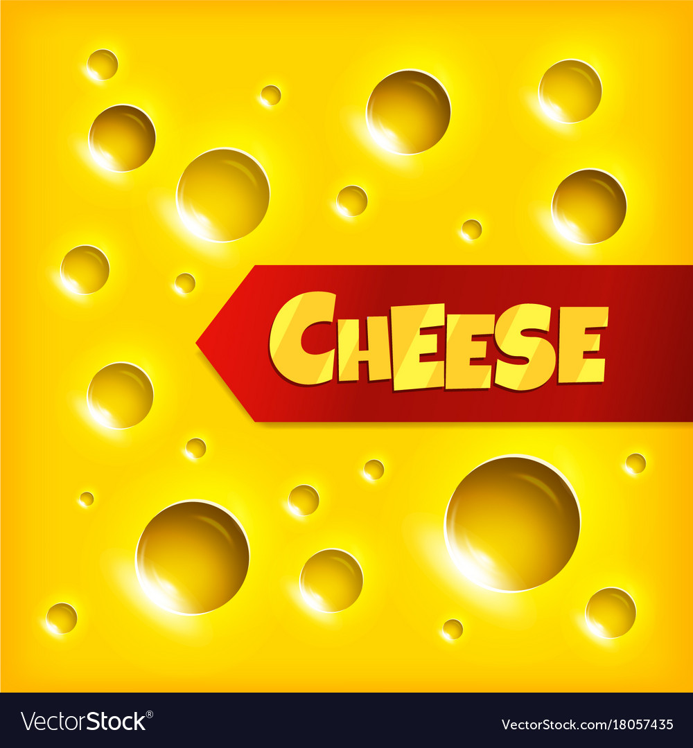 Cheese slice seamless texture background vector image