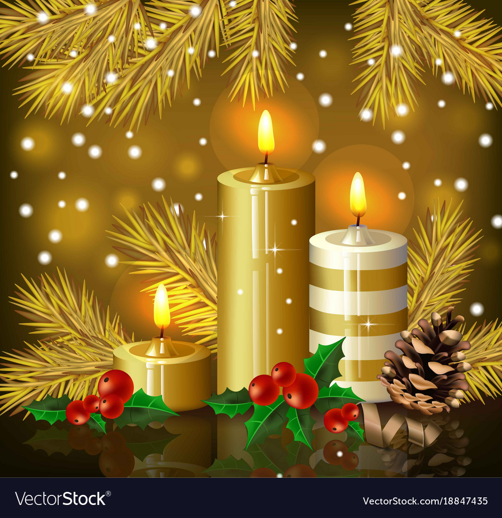 Christmas Candles.Christmas Candles Background Holy Night Eve