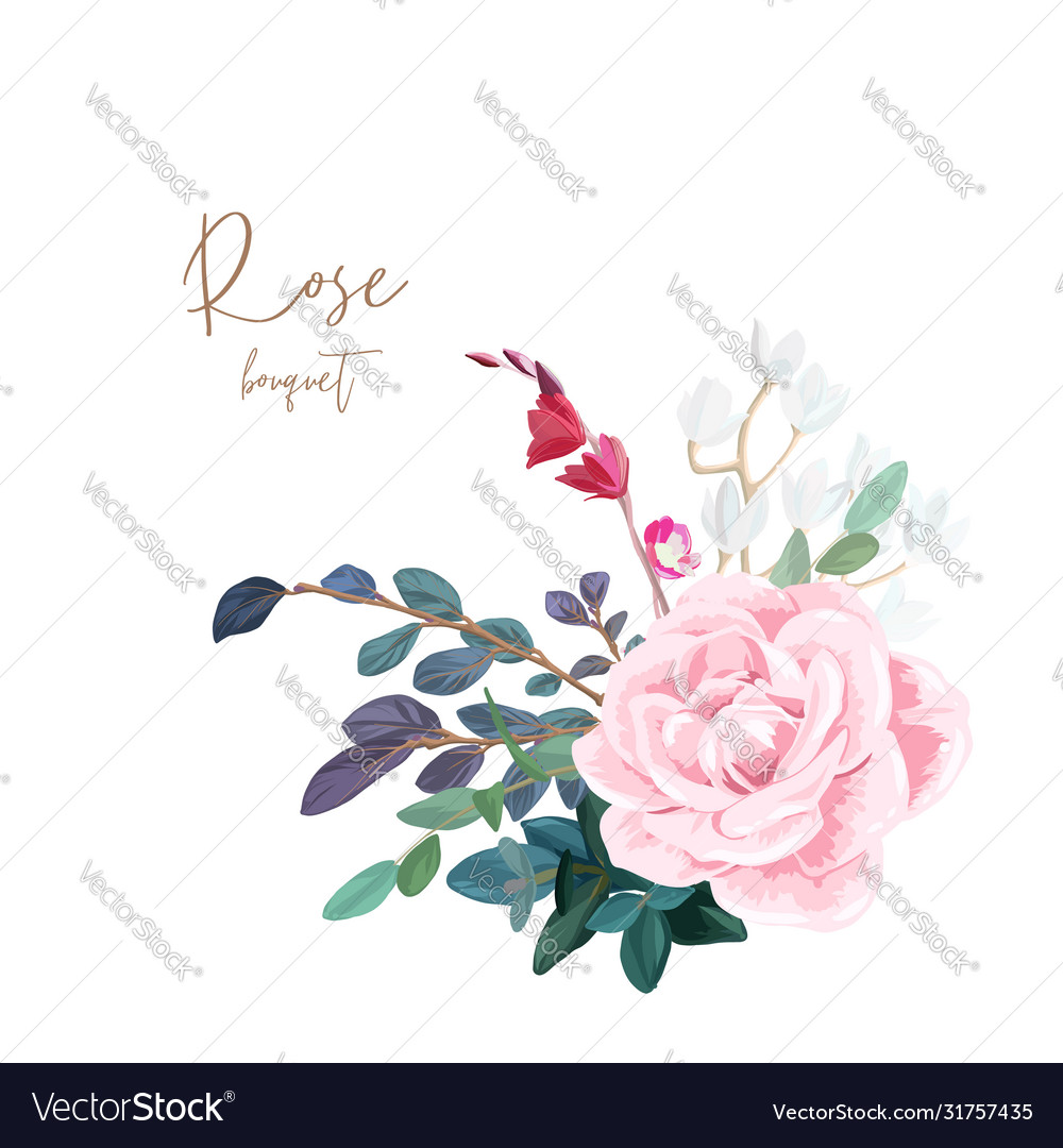 Decorative corner composition pale roses white