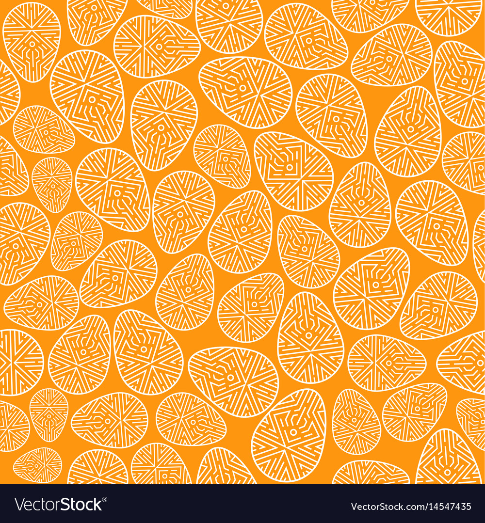 Easter seamless pattern decorated eggs