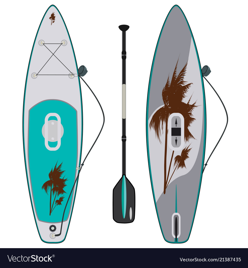 Electric sup surfboard flat