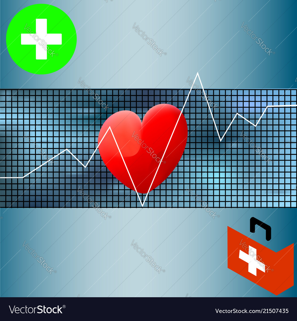 Healthcare medical background with white heart