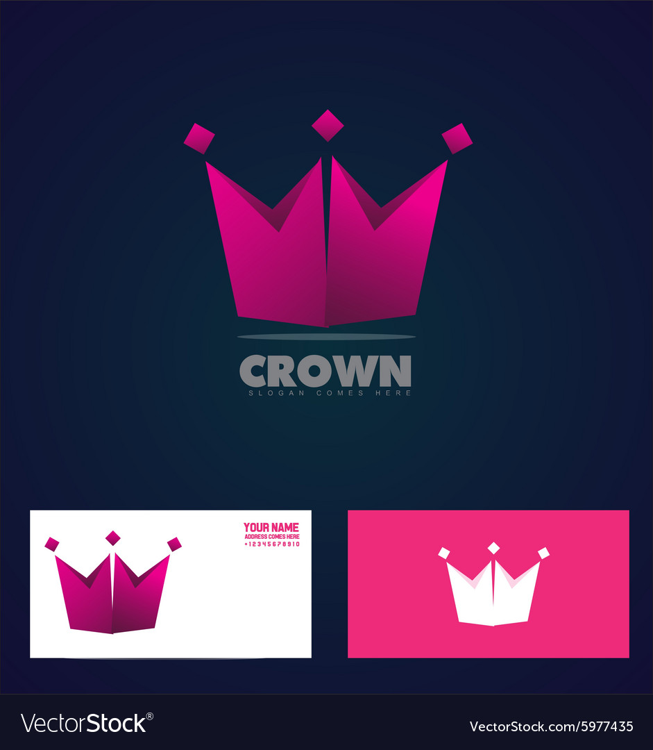 King crown logo icon company