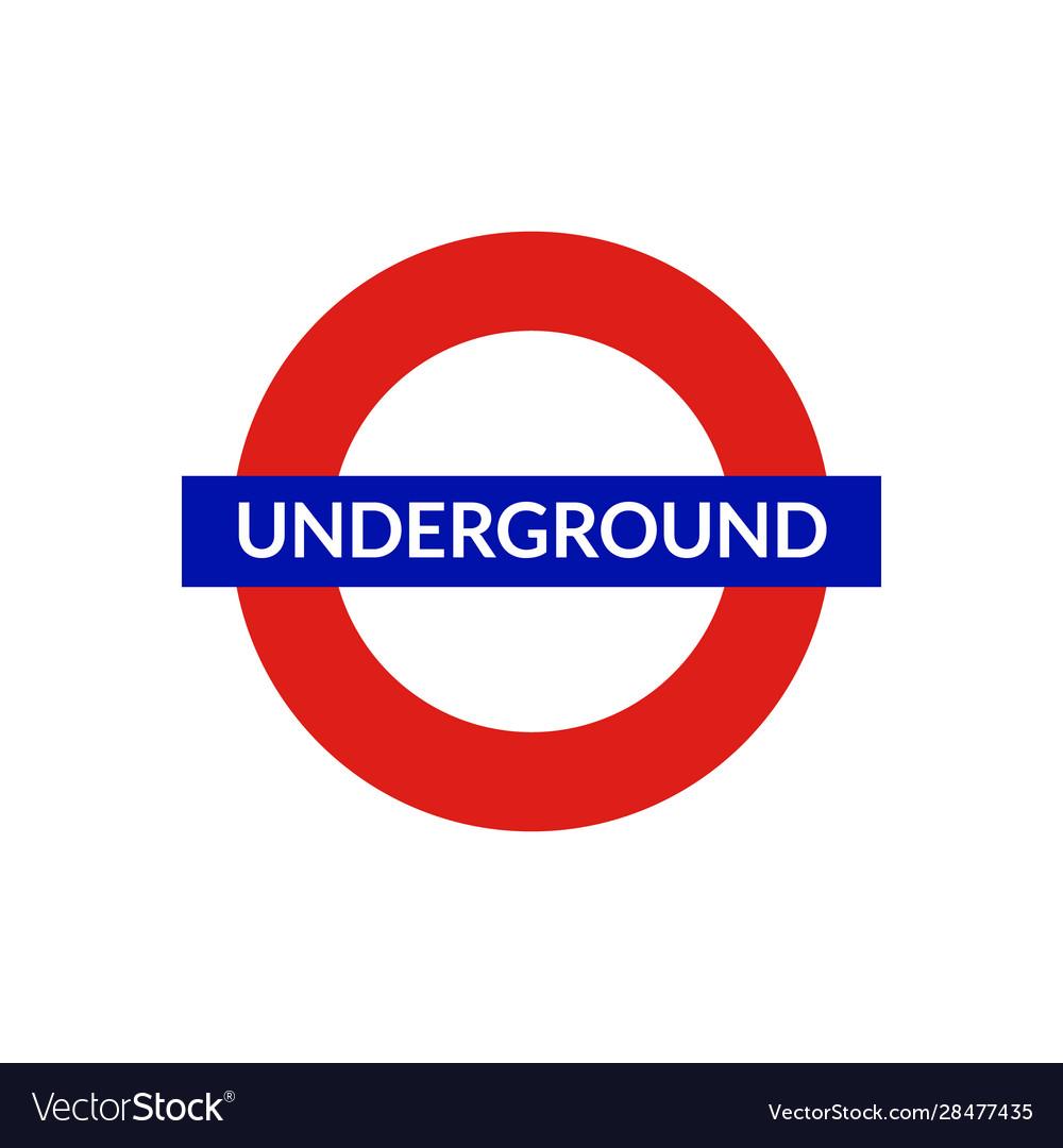 London underground sign metro tube subway