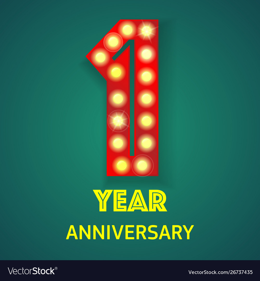 Number one anniversary
