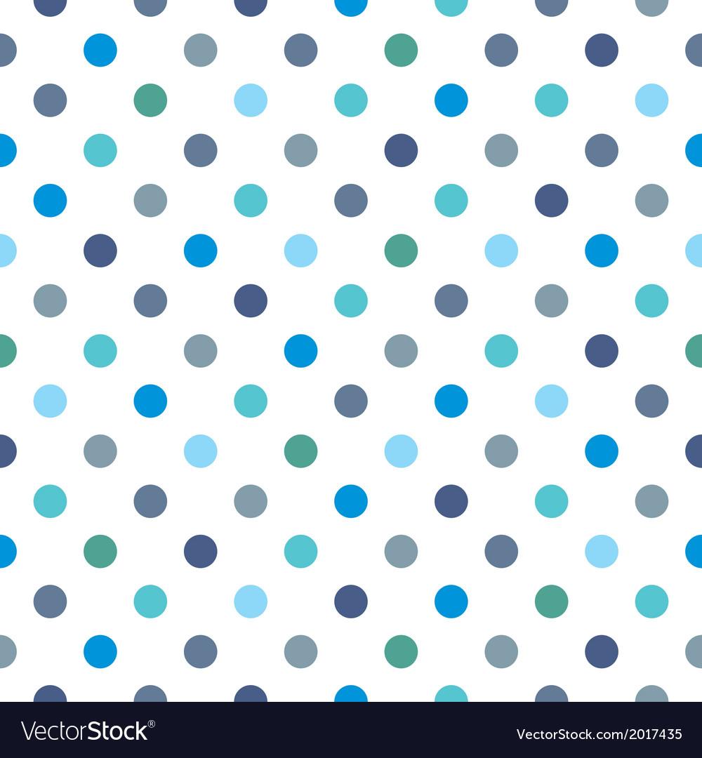 Seamless pattern blue polka dots background