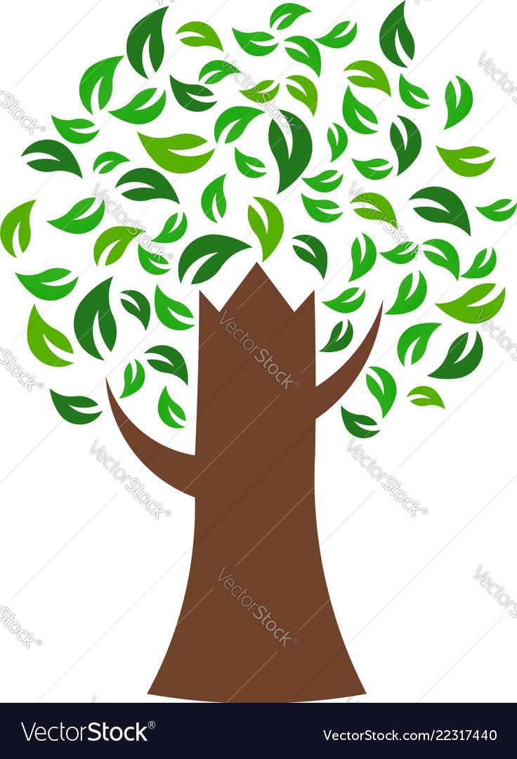 Green tree environmental logo
