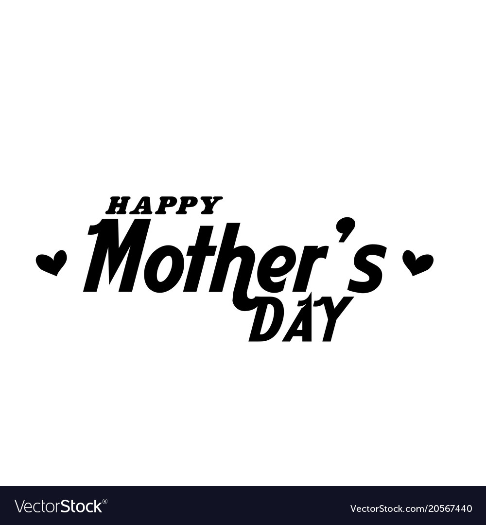 Happy mothers day text white background im