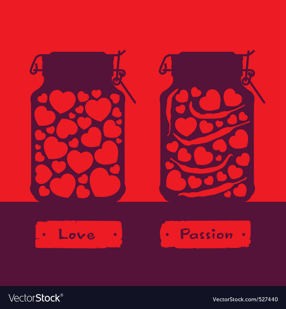 Love and passion vector image