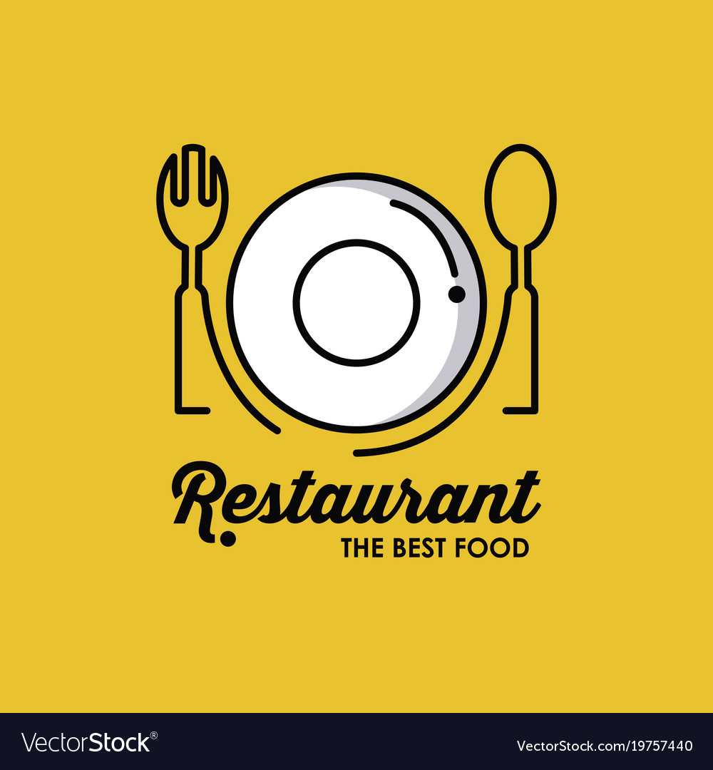 Restaurant identity symbol vector image