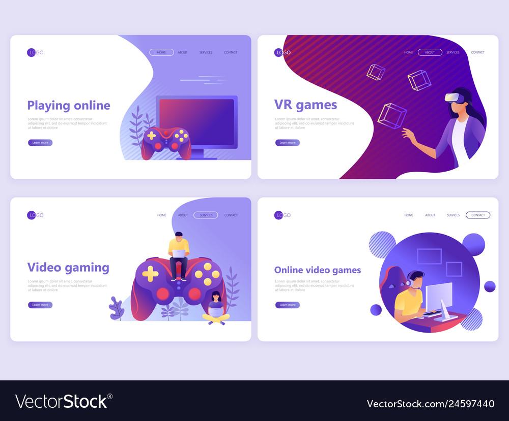 Set landing page templates video gaming