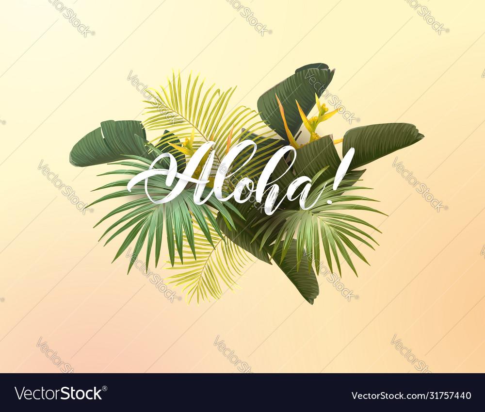 Summer tropical design for poster banner