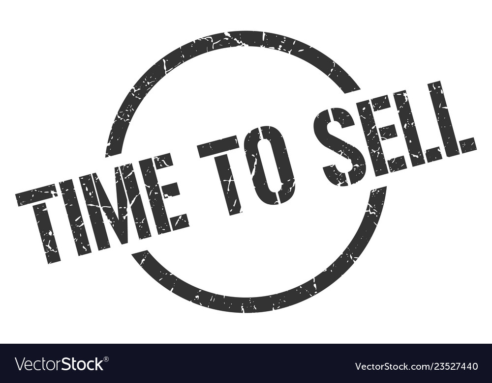 Time to sell stamp vector image on VectorStock