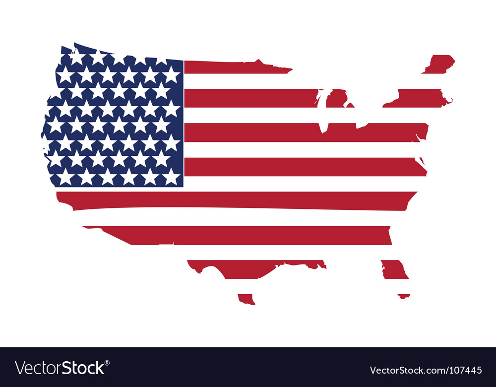 american flag royalty free vector image vectorstock rh vectorstock com american flag vector png american flag vector grunge