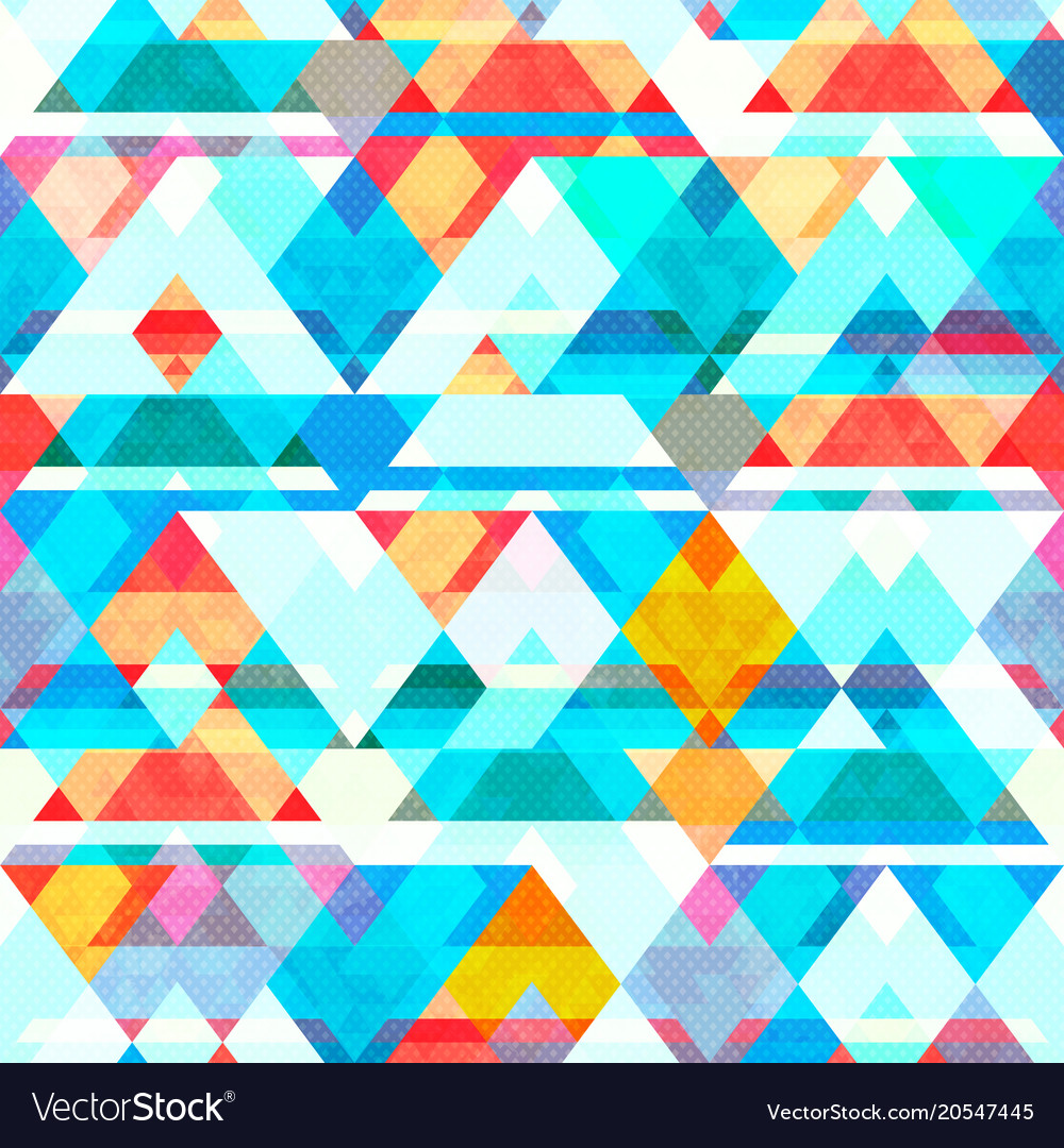 Blue color mosaic seamless pattern vector image