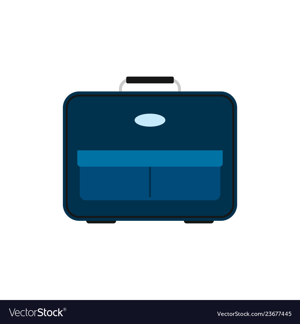 Blue travel bag with luggage