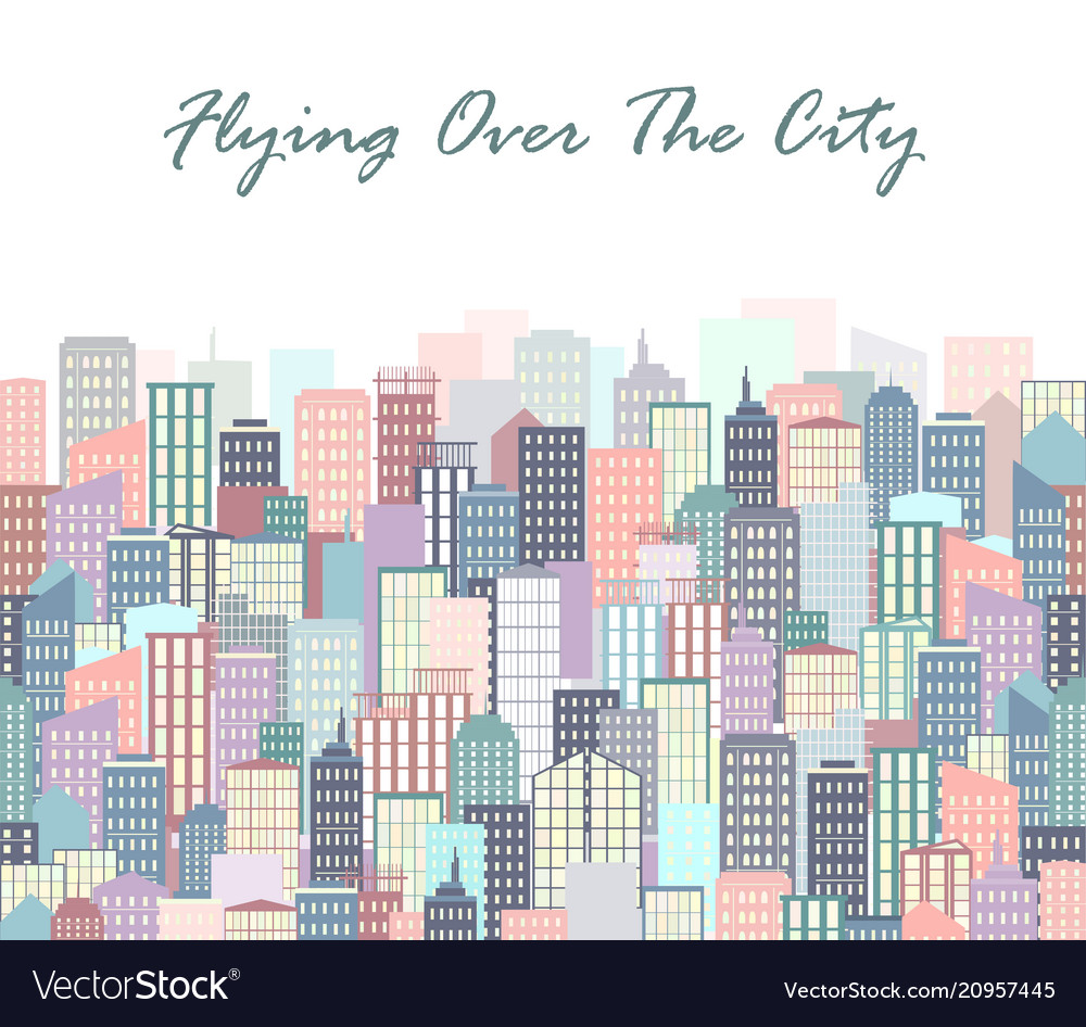 City landscape urban skyline background with