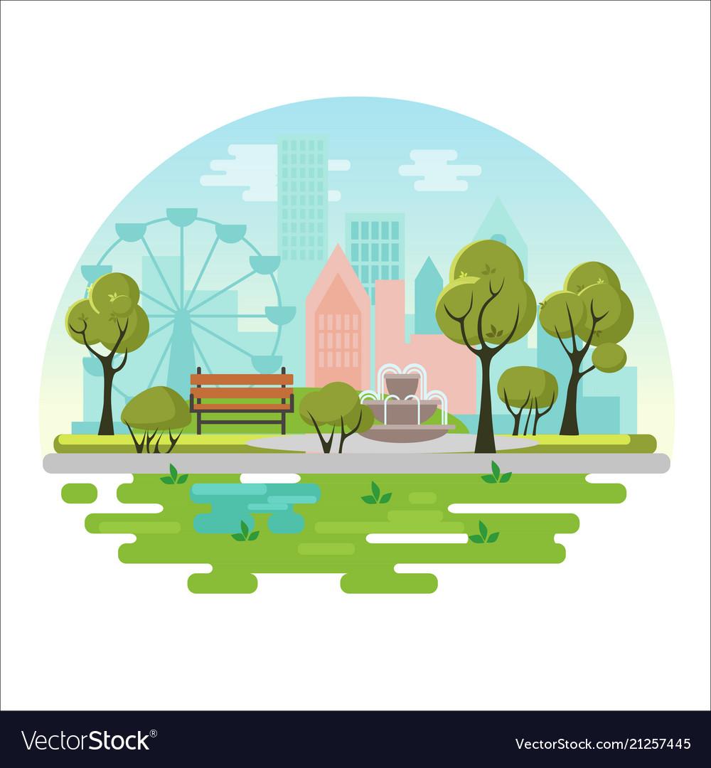 City public park concept