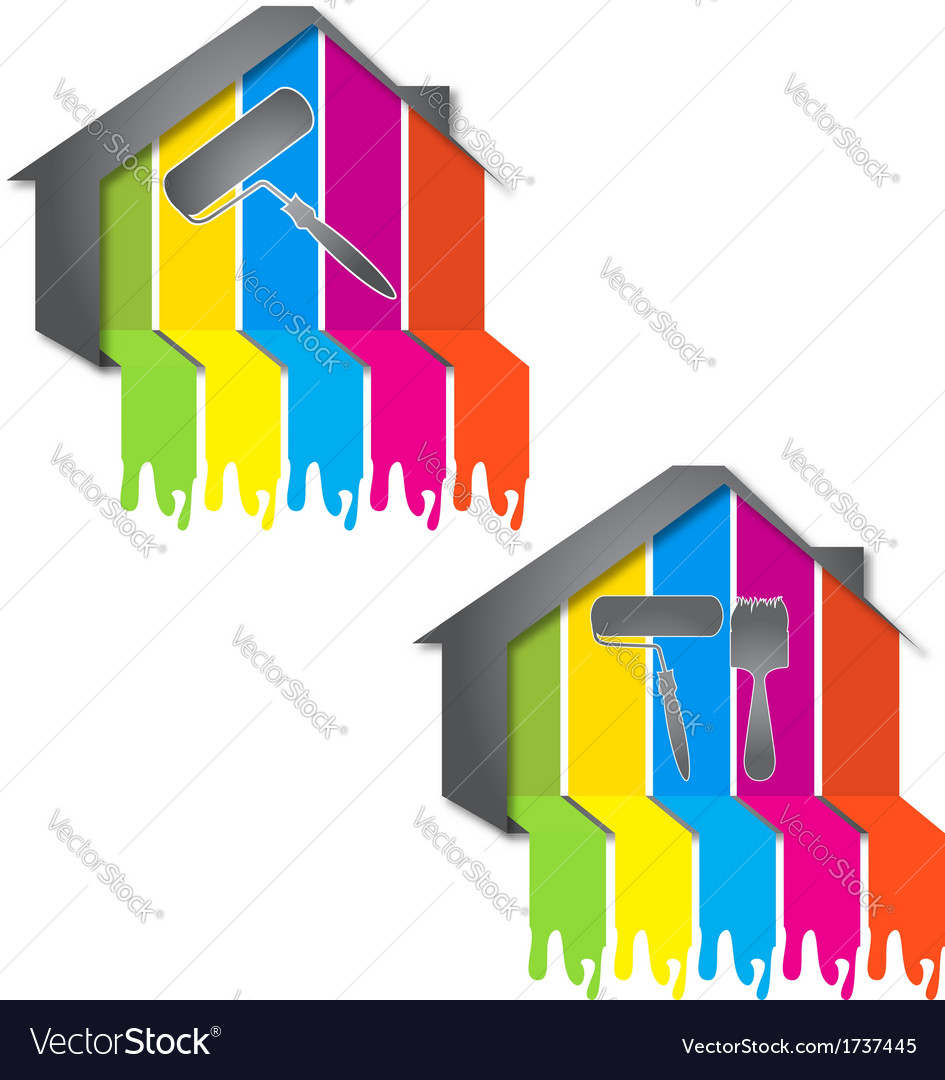 Design for painting houses Royalty Free Vector Image on free house jpegs, free house models, free house textures, free house vector, free house illustrations, free house background, free house logo design, free house layout design, free house patterns, free house drawing, free house designing, free house art, free house design plans, free house blueprints, free house borders, free house design templates, free house sketch, free house painting, free house clipart, free house drafting,