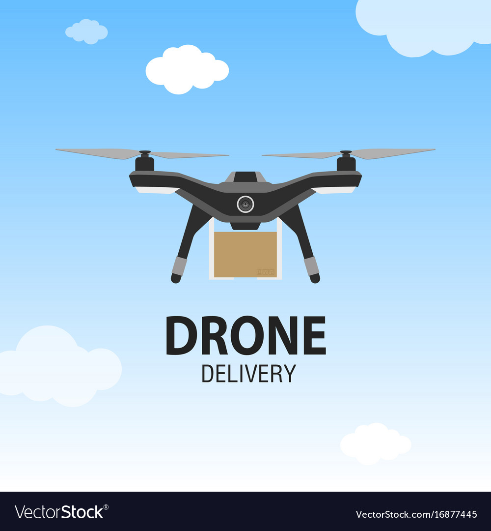 Drone delivery concept copter or quadcopter