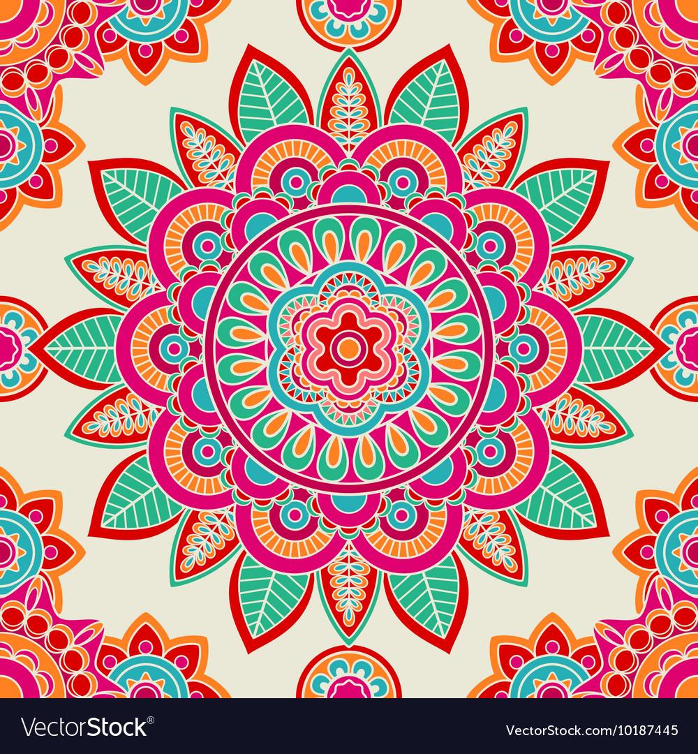 Ethnic boho hippie seamless pattern