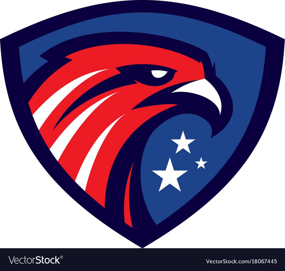 Modern eagle head sport mascot