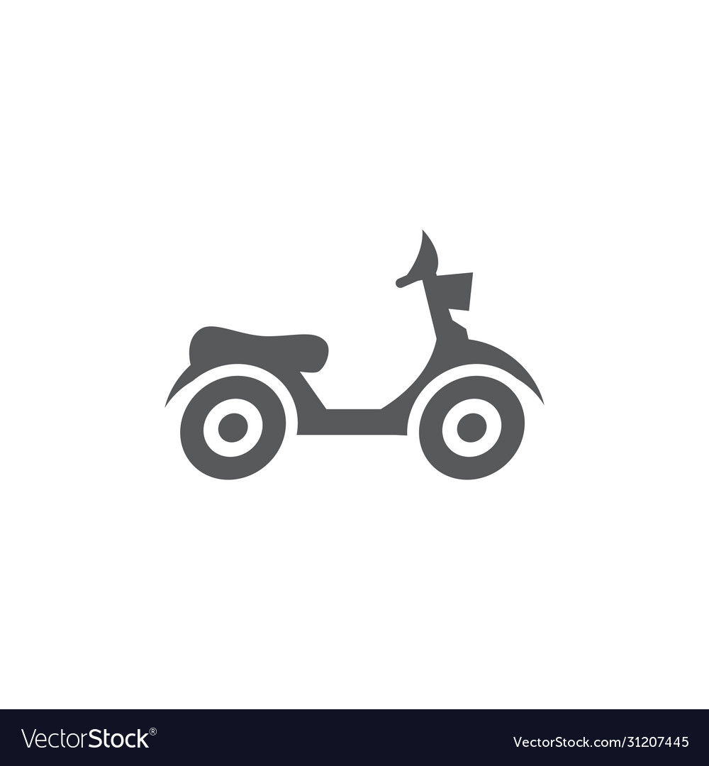 Moped icon on white background