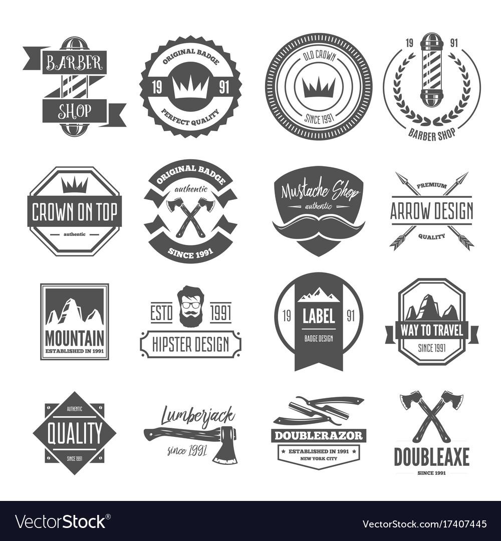 Set vintage logotypes elements labels