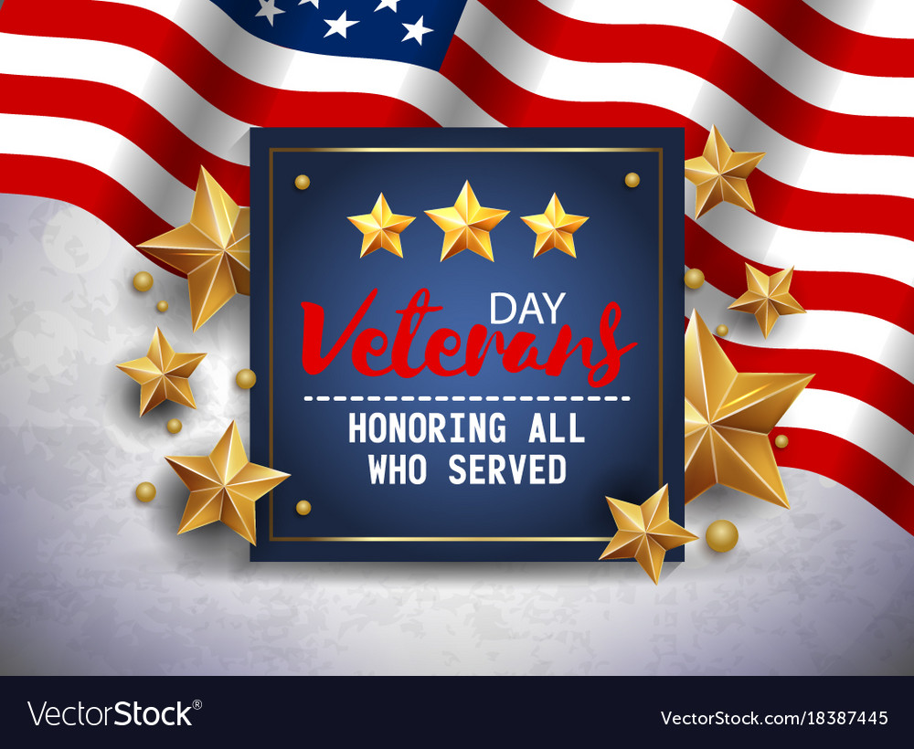 Veterans Day Greeting Navy Blue Royalty Free Vector Image