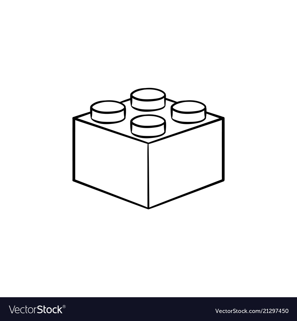 Building block hand drawn outline doodle icon