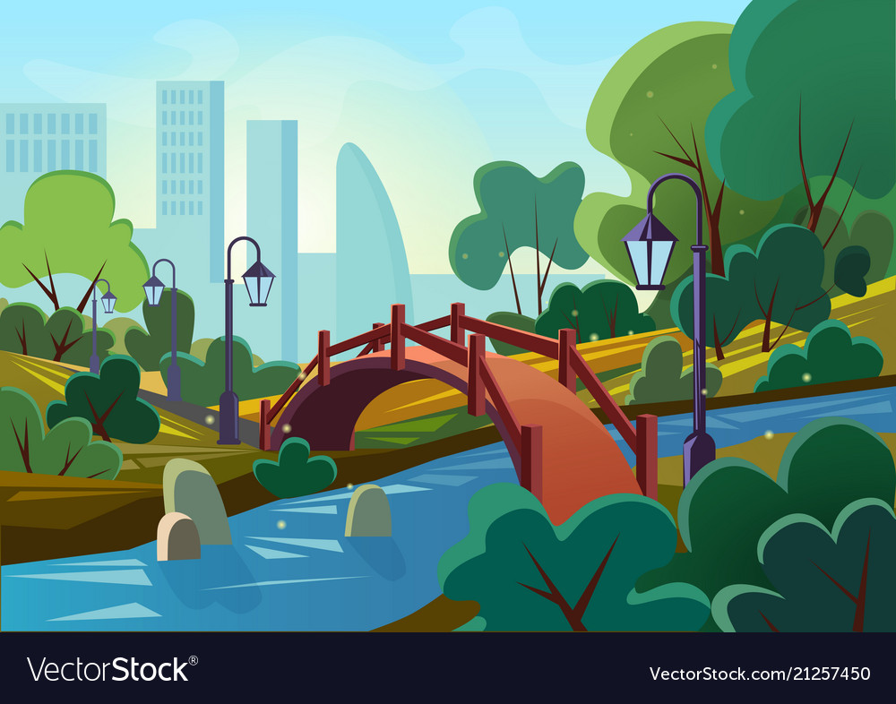 Cartoon of a beautiful summer