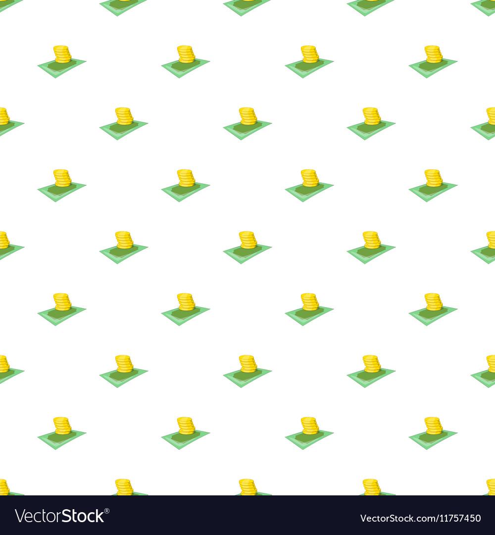 Cash money pattern cartoon style vector image