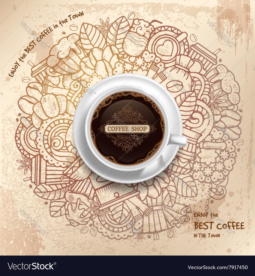 Coffee Grunge Pattern Template