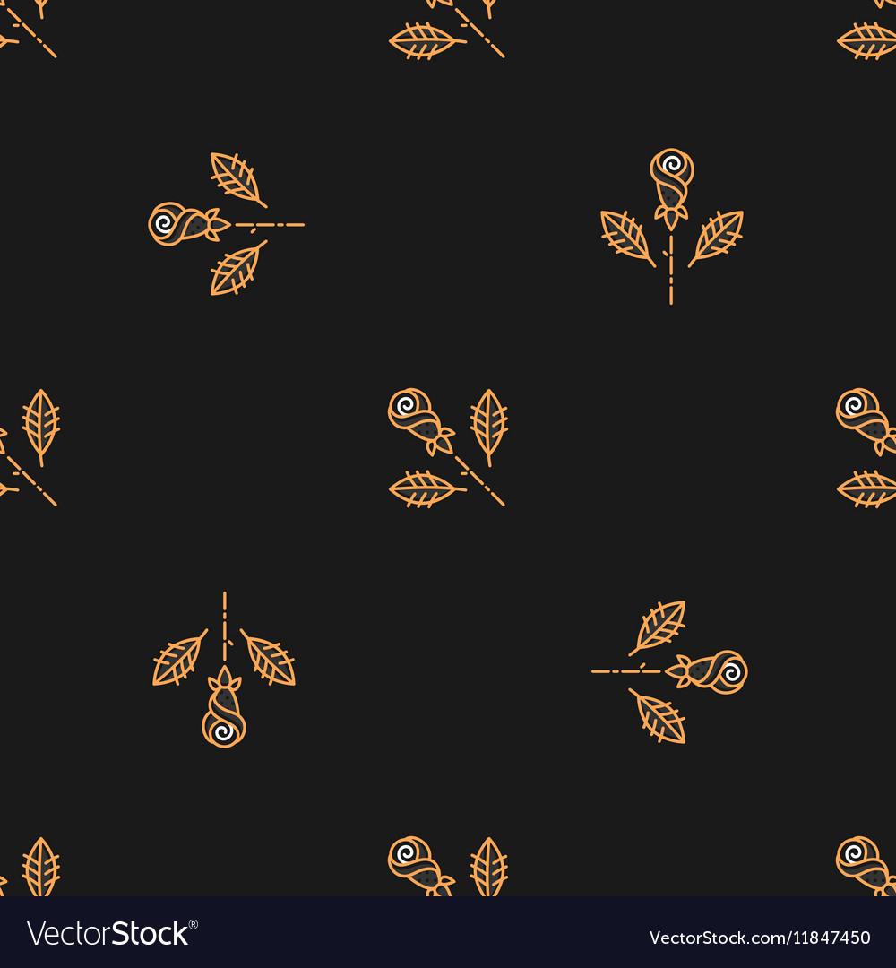 Golden rose seamless pattern Minimal design