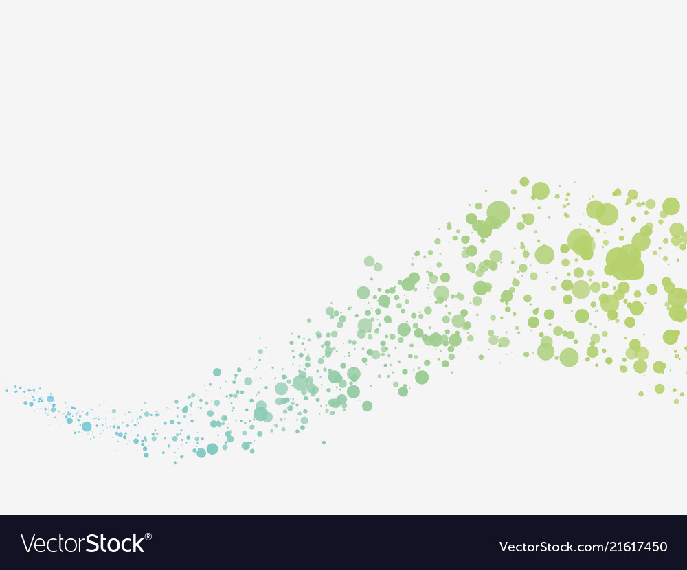 Green blue dots wave background