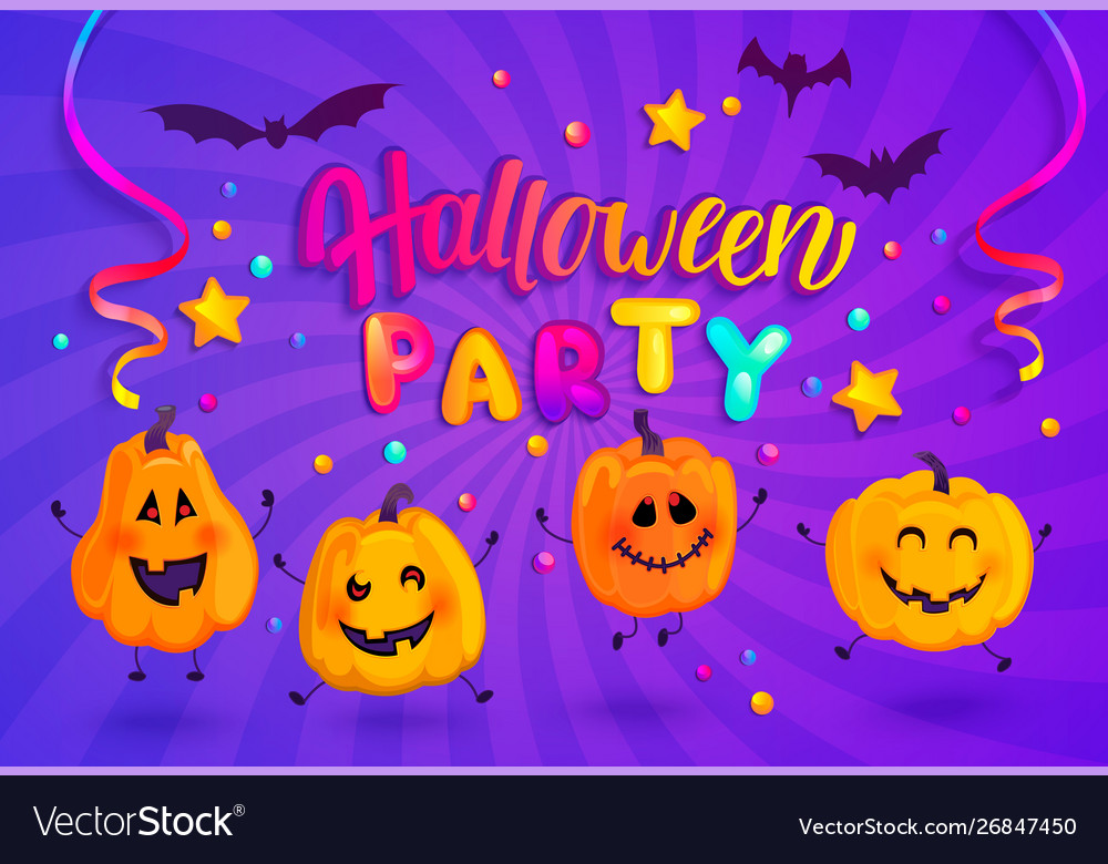 Halloween party banner for kids