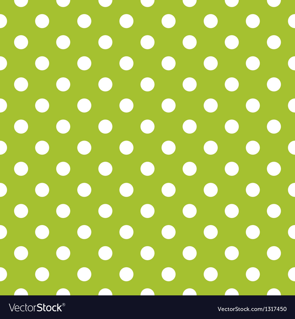 Seamless spring green pattern and white polka dots