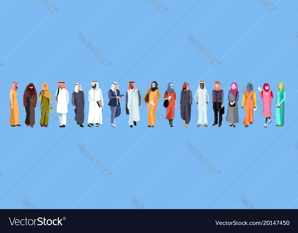 Traditional group of arab