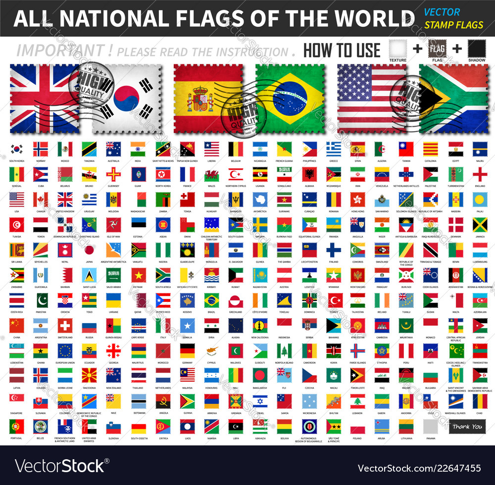 All official national flags of the world old