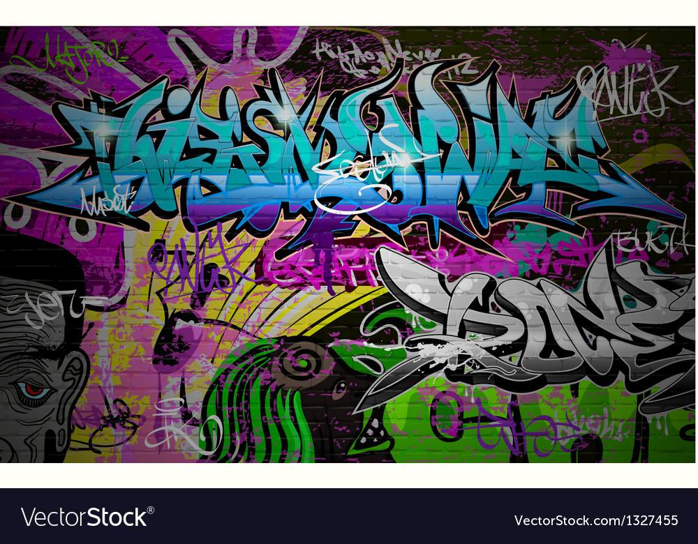 Graffiti wall art background