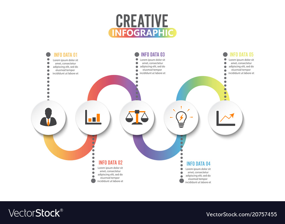Infographic design template and marketing icons